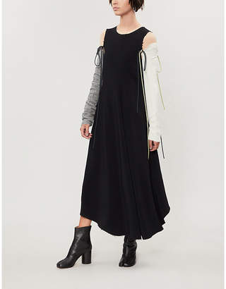 Song For The Mute Detachable sleeves crepe dress