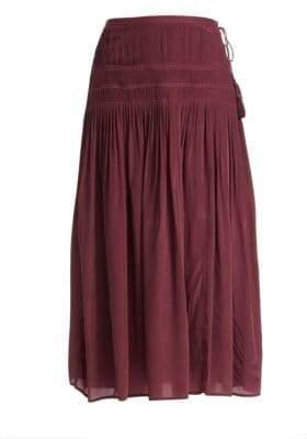 Sea Hemmingway Crepe Micro Pleated Skirt