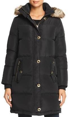 MICHAEL Michael Kors MICHAEL Faux Fur Trim Puffer Coat