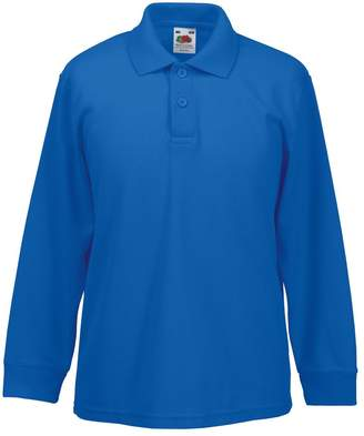 Fruit of the Loom Childrens Long Sleeve 65/35 Pique Polo / Childrens Polo Shirts (5-6)