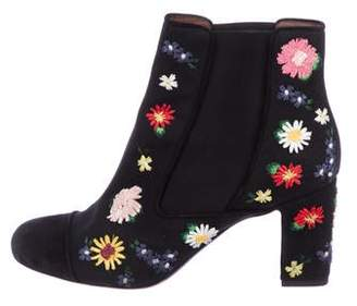Tabitha Simmons Woven Ankle Boots