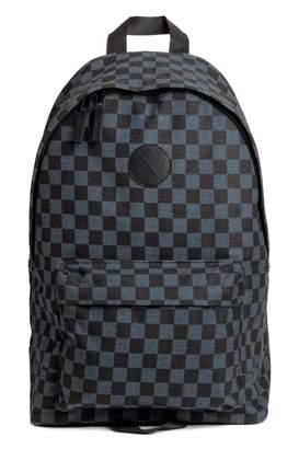 H&M Backpack - Dark blue/black checked - Men
