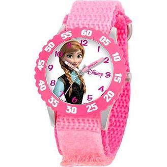 Disney Frozen Anna Girls' Stainless Steel Watch, Pink Strap