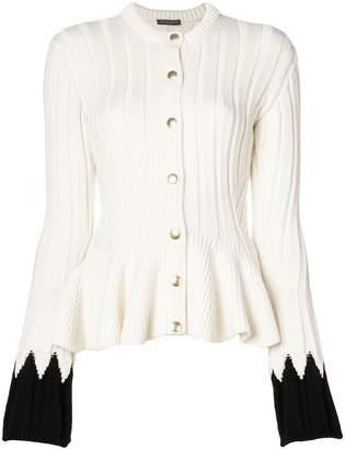 Alexander McQueen contrast cuff cardigan