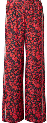 IRO Mystery Floral-print Twill Wide-leg Pants - Red