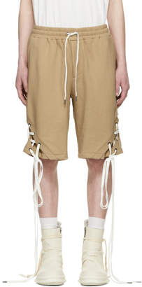 D.gnak By Kang.d Beige String Shorts
