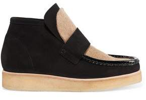Acne Studios Kingston Felt-Paneled Suede Ankle Boots