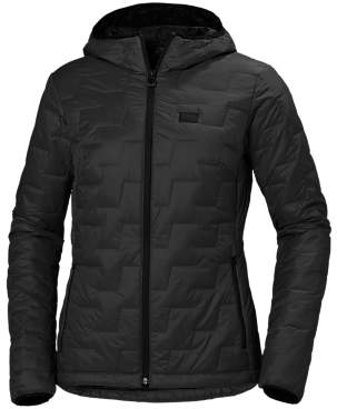 Helly Hansen Lifaloft Insulated Women's Outdoor Hooded Jacket, Black Matte