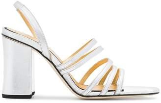 Dorateymur silver Integra 90 leather sandals
