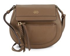 Leather Crossbody Saddle Bag $198 thestylecure.com
