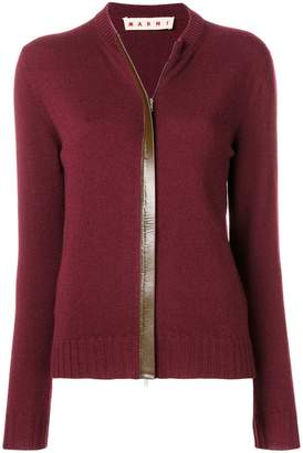 Marni zipped up cardigan