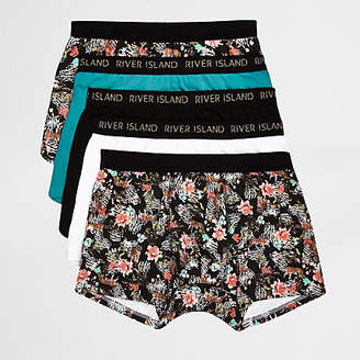 River Island Big and Tall animal print trunk multipack