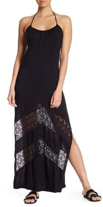 Ach'e A Che' Aniston Chevron Lace Maxi Dress
