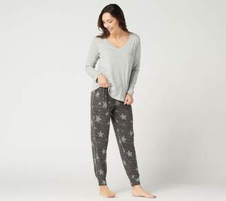 Splendid Long Sleeve Top and Jogger Pajama Set