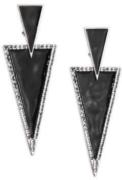 Saint Laurent Triangle Post Earrings
