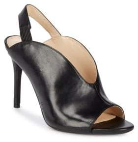Nine West Moore Leather Stiletto Slingbacks