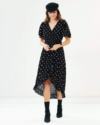 Sass Spot On Wrap Maxi Dress