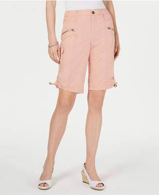Style&Co. Style & Co Zipper Bermuda Cargo Shorts
