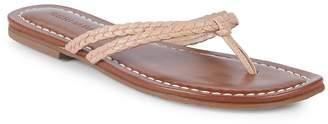 Bernardo Women's Double-Strap Leather Thong Sandals
