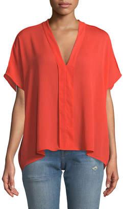 J Brand Kiko V-Neck Short-Sleeve Top