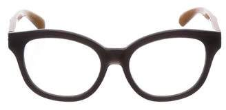 Linda Farrow Oversize Bicolor Eyeglasses