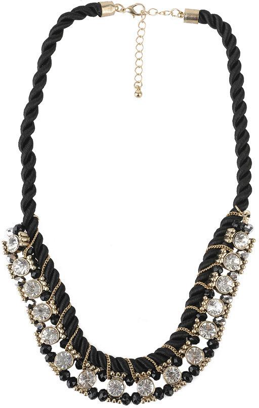 Forever 21 Twisted Rhinestone Necklace