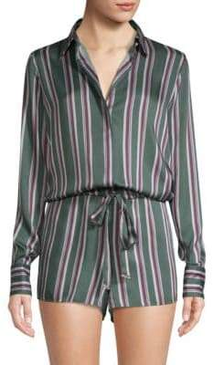 Alexis Monet Striped Tie-Waist Romper