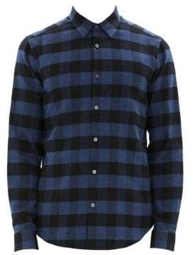Theory Irving Check Flannel Shirt