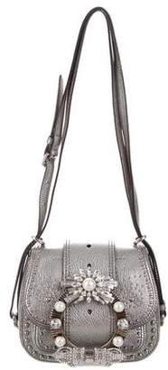 Miu Miu Jeweled Dahlia Saddle Bag