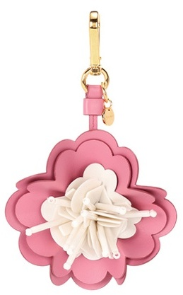 Miu Miu Miu Miu Embellished leather bag charm