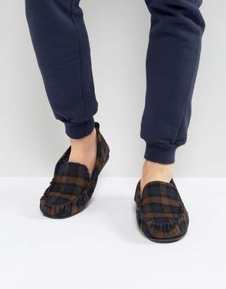 Dunlop Check Slippers