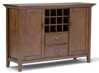 WyndenHall Mansfield Solid Wood Sideboard Buffet and Winerack Rustic Natural Aged Brown