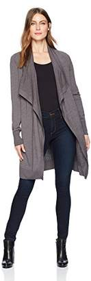 Lark & Ro Women's Long Waterfall Cardigan Sweater
