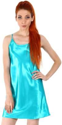 Simplicity Women's Sexy Sleepwear Satin Nightgown Silk Chemise Slip Dress