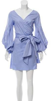 Alexis Striped Wrap Dress w/ Tags