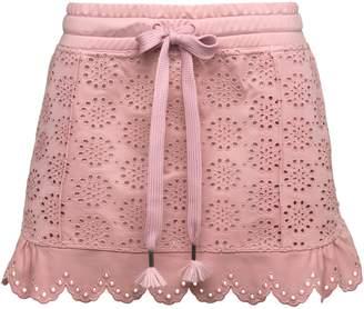 Embroidered Edge Mini Skirt