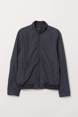 H&M Jacket with Stand-up Collar - Blue