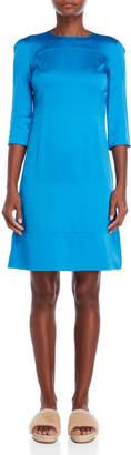 Marni Blue Quarter Sleeve Dress