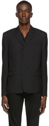 Saint Laurent Black Gabardine 7-Button Blazer