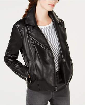 Maison Jules Leather Moto Jacket