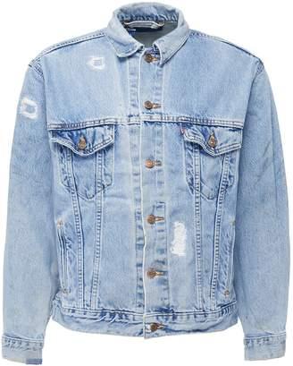 Atelier & Repairs Ripped denim jacket