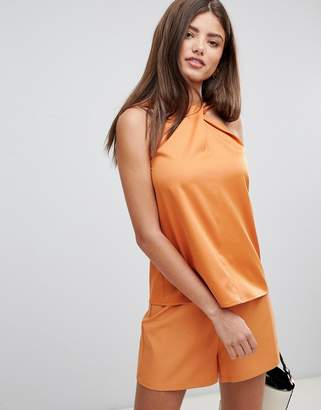 Fashion Union High Neck Ruched Top two-piece