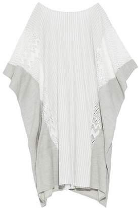 Jonathan Simkhai Striped Cotton-Poplin Lace And Jersey Kaftan