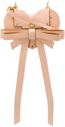 Niels Peeraer bow-embellished heart bag