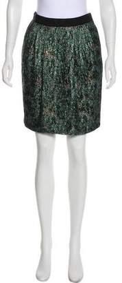 Chris Benz Metallic Mini Skirt