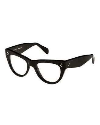 Celine Cat-Eye Acetate Optical Frames, Black