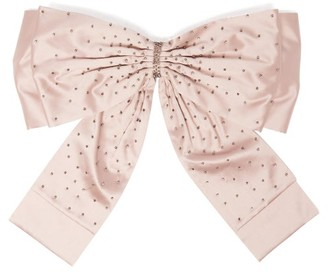 Erdem Crystal Embellished Oversized Bow Belt - Womens - Light Pink