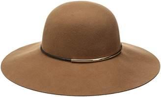 Nine West Women's Felt Floppy Hat With Metal Tube