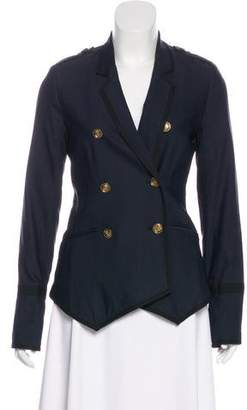 Elizabeth and James Double-Breasted Wool-Blend Blazer