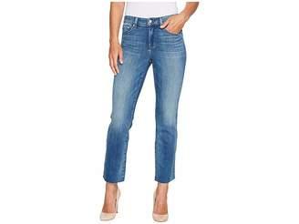 NYDJ Marilyn Ankle Jeans w/ Raw Hem in Premium Denim in Beacon Women's Jeans